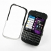 BlackBerry Q10 Aluminum Metal Case (Silver) top quality leather case by PDair
