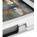 HTC Tattoo Aluminum Metal Case (Silver) handmade leather case by PDair