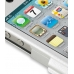 iPhone 4 4s Aluminum Metal Case (Silver) handmade leather case by PDair