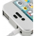 iPhone 4 4s Aluminum Metal Case (Silver) top quality leather case by PDair