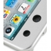 iPod Touch 4th Aluminum Metal Case (Silver) handmade leather case by PDair