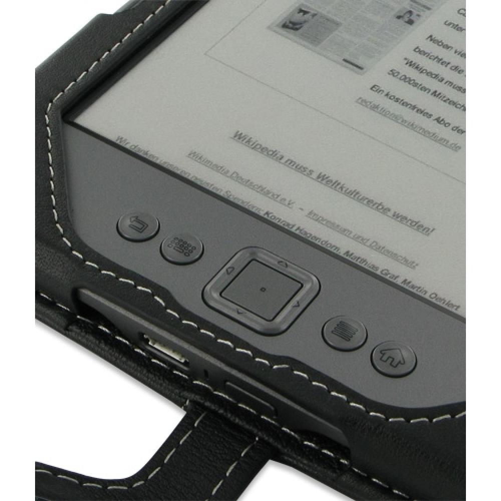 Amazon Kindle 4 Leather Flip Case (Black) :: PDair Wallet