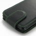 Asus PadFone mini 4.3 Leather Flip Top Carry Case (Green Stitch) handmade leather case by PDair