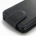 Asus PadFone mini 4.3 Leather Flip Top Carry Case (Purple Stitch) handmade leather case by PDair
