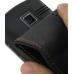 Garmin nuvifone A50 Leather Flip Case (Orange Stitch) handmade leather case by PDair