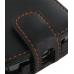 Garmin nuvifone A50 Leather Flip Case (Orange Stitch) genuine leather case by PDair