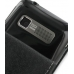 Garmin nuvifone M10 Leather Flip Case (Black) handmade leather case by PDair