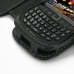 BlackBerry Curve 8520 Leather Flip Cover (Black) genuine leather case by PDair
