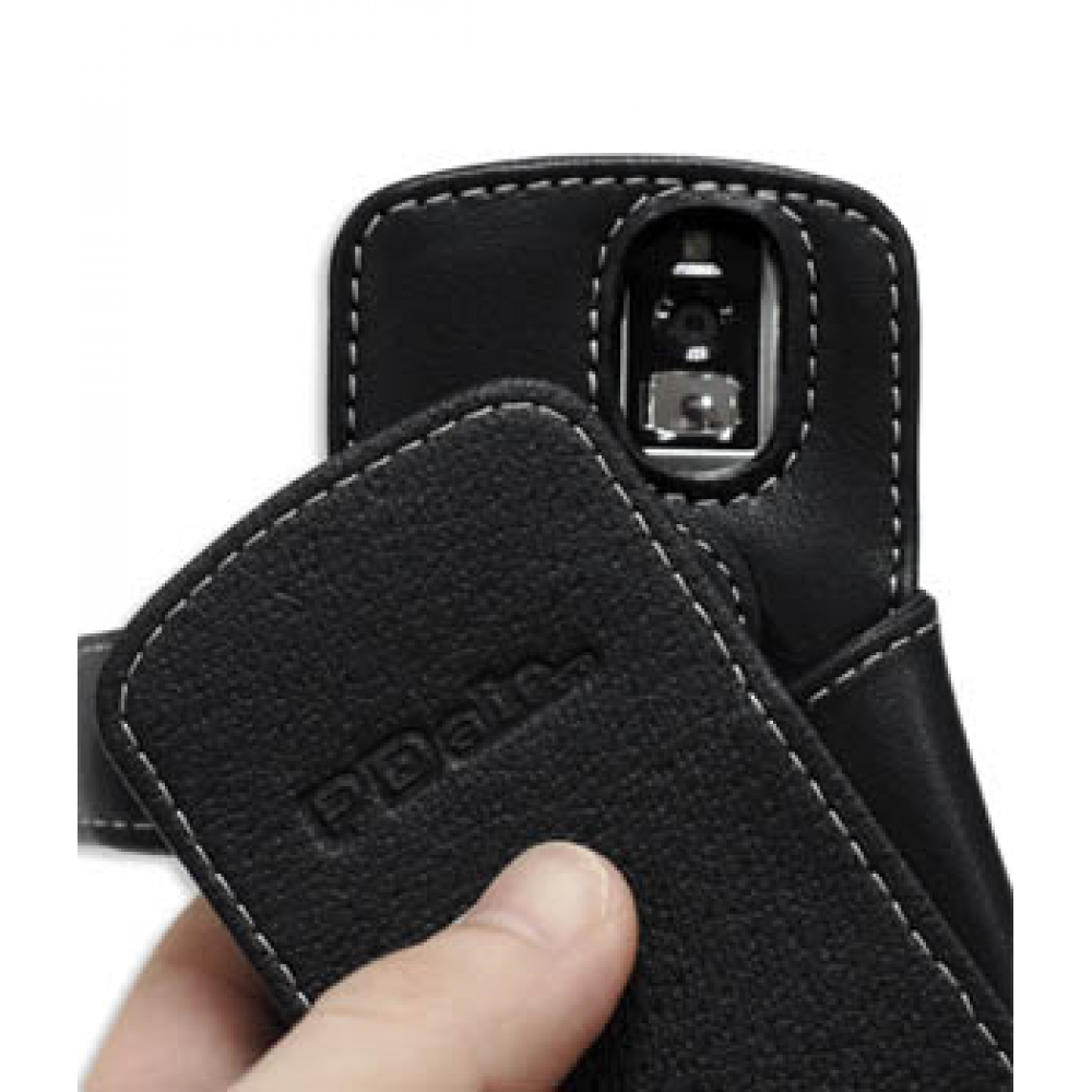 Blackberry pearl 8100 mobile phones images blackberry pearl 8100 -  Blackberry Pearl 8100 Leather Flip Cover Black Top Quality Leather Case By Pdair