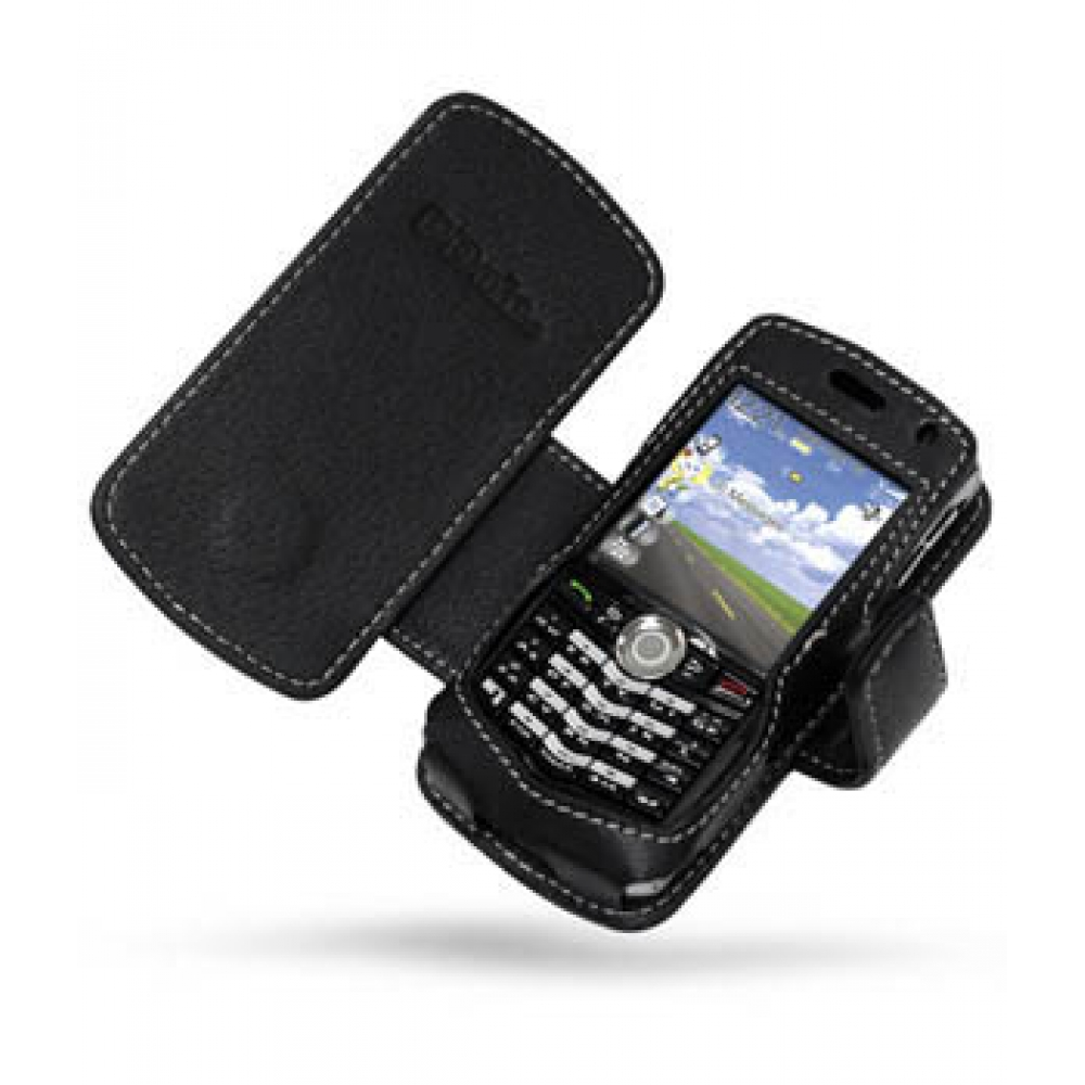 Blackberry pearl 8100 mobile phones images blackberry pearl 8100 -  Blackberry Pearl 8100 Leather Flip Cover Black Custom Degsined Carrying Case By Pdair