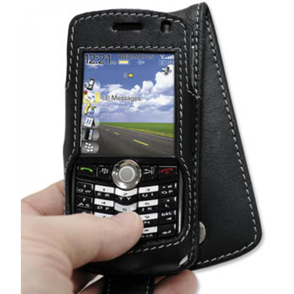 Blackberry pearl 8100 mobile phones images blackberry pearl 8100 -  Blackberry Pearl 8100 Leather Flip Case Black Genuine Leather Case By Pdair