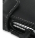 BlackBerry Bold 9650 Leather Flip Cover (Black) handmade leather case by PDair