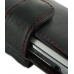 BlackBerry Torch 9810 Leather Holster Case (Red Stitch) genuine leather case by PDair