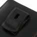 BlackBerry Passport Pouch Pouch Case with Belt Clip (Orange Stitch) genuine leather case by PDair