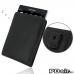 BlackBerry Passport Pouch Pouch Case with Belt Clip (Orange Stitch) best cellphone case by PDair