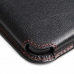 Moto G Leather Wallet Sleeve Case (Red Stitch) offers worldwide free shipping by PDair