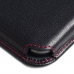 Samsung Galaxy Note 2 (in Slim Cover) Leather Wallet Sleeve Case (Red Stitch) offers worldwide free shipping by PDair