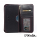 Samsung Galaxy Note 2 (in Slim Cover) Leather Wallet Sleeve Case (Red Stitch) best cellphone case by PDair