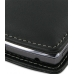 DoCoMo Aquos SH-12C Leather Flip Cover (Black) handmade leather case by PDair