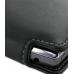 DoCoMo Aquos SH-12C Leather Flip Case (Black) handmade leather case by PDair