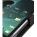 DoCoMo Aquos SH-12C Leather Flip Case (Black) genuine leather case by PDair
