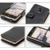 LG Optimus LTE L-01D Leather Flip Cover (Black) protective carrying case by PDair