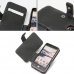 LG Optimus LTE L-01D Leather Flip Cover (Black) handmade leather case by PDair