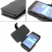 Docomo Samsung GALAXY S2 Leather Flip Cover (Black) handmade leather case by PDair