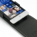 HTC 8S Leather Flip Top Case genuine leather case by PDair