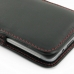 HTC Butterfly S Leather Sleeve Pouch Case (Red Stitch) protective carrying case by PDair