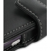 T-Mobile HTC myTouch 4G Leather Flip Cover (Black) handmade leather case by PDair