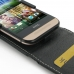 HTC One mini 2 Leather Flip Top Case genuine leather case by PDair