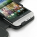 HTC One E8 Leather Flip Cover genuine leather case by PDair