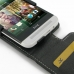 HTC One E8 Leather Flip Top Case genuine leather case by PDair