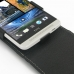 HTC One Max Leather Flip Top Case genuine leather case by PDair