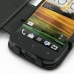 HTC One ST Leather Flip Cover genuine leather case by PDair