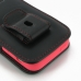 iPhone 5c (in Slim Cover) Pouch Clip Case (Red Stitch) protective carrying case by PDair
