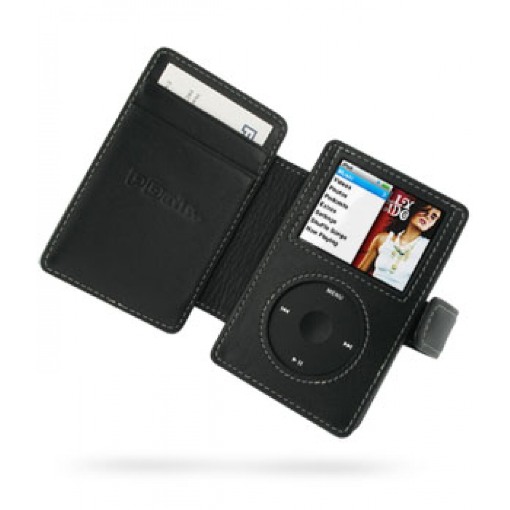 Ipad Classic Book Cover ~ Ipod classic gb leather flip cover black pdair
