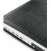 MacBook 2008 13 Leather Flip Cover (Black Croc) genuine leather case by PDair