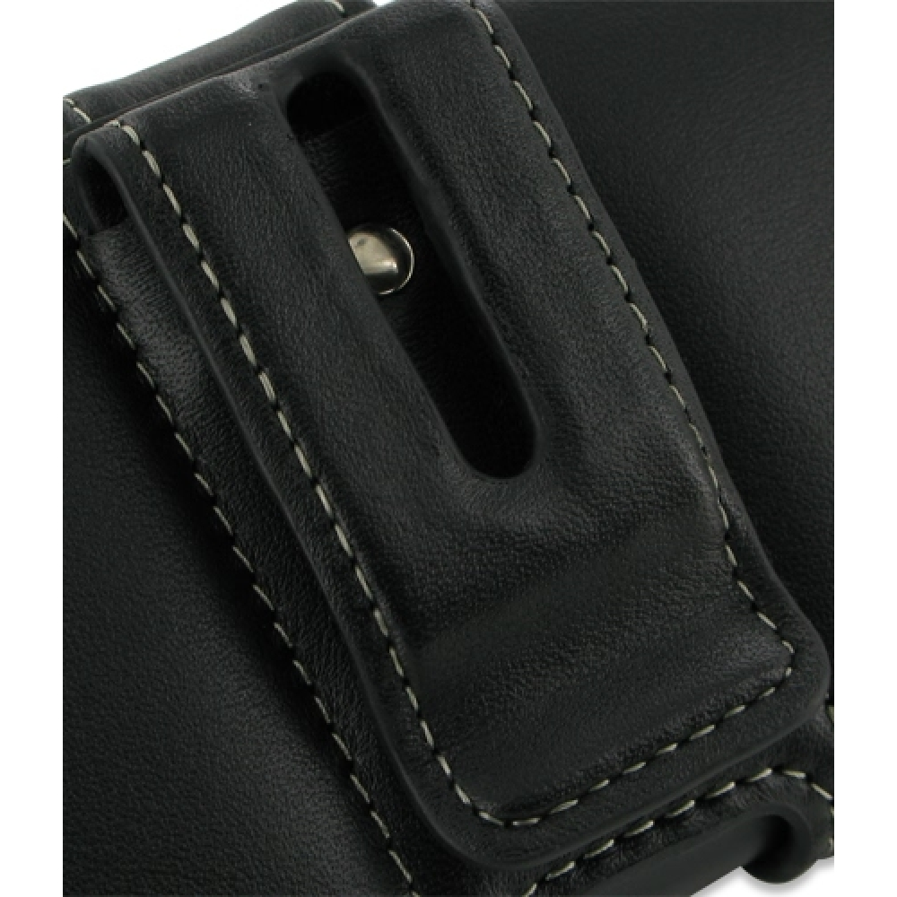 LG Optimus 3D Leather Holster Case (Black) :: PDair Sleeve Pouch