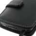 LG Optimus LTE Leather Flip Cover (Black) handmade leather case by PDair