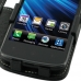 LG Optimus LTE Leather Flip Cover (Black) genuine leather case by PDair