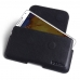 Samsung Galaxy Note 3 Leather Holster Pouch Case (Black Stitch) custom degsined carrying case by PDair