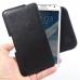 Samsung Galaxy Note 2 Leather Holster Pouch Case (Black Stitch) genuine leather case by PDair