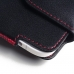 Samsung Galaxy A8 A8000 Leather Holster Pouch Case (Red Stitch) protective carrying case by PDair