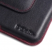 Samsung Galaxy Note 5 (in Slim Cover) Leather Holster Pouch Case (Red Stitch) offers worldwide free shipping by PDair