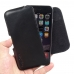 iPhone 6 6s Leather Holster Pouch Case (Black Stitch) genuine leather case by PDair