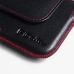 Samsung Galaxy S6 Leather Holster Pouch Case (Red Stitch) top quality leather case by PDair