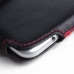 ZTE Blade S6 Leather Holster Pouch Case (Red Stitch) protective carrying case by PDair