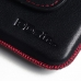 ZTE Blade S6 Leather Holster Pouch Case (Red Stitch) handmade leather case by PDair